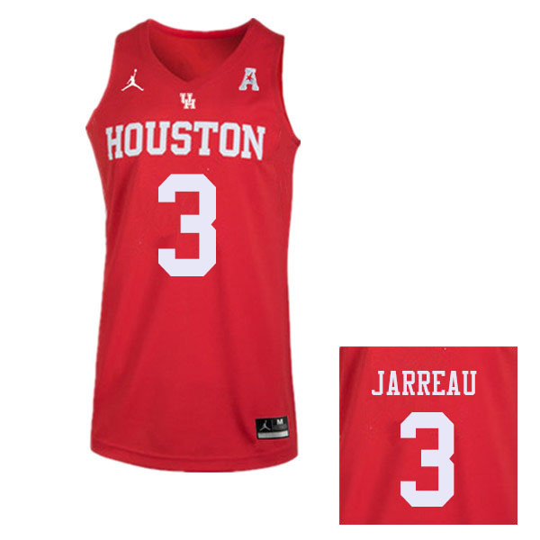 Jordan Brand Men #3 DeJon Jarreau Houston Cougars College Basketball Jerseys Sale-Red