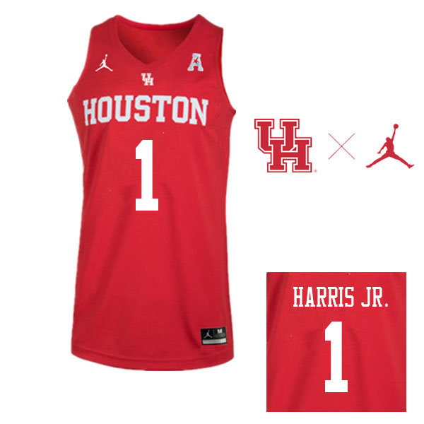Jordan Brand Men #1 Chris Harris Jr. Houston Cougars College Basketball Jerseys Sale-Red
