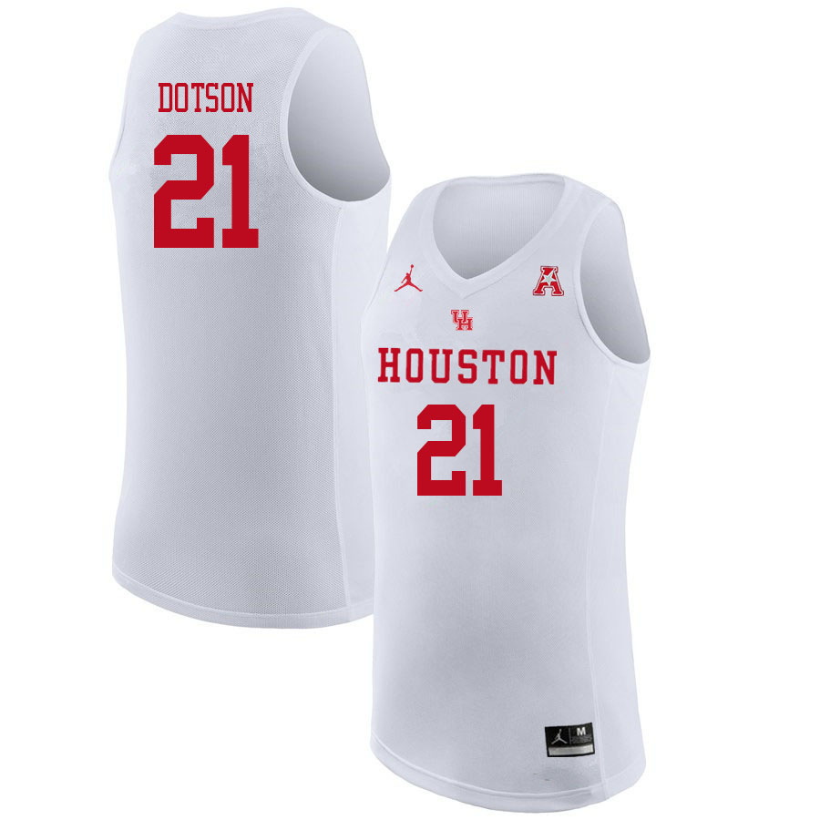 Jordan Brand Men #21 Damyean Dotson Houston Cougars College Basketball Jerseys Sale-White