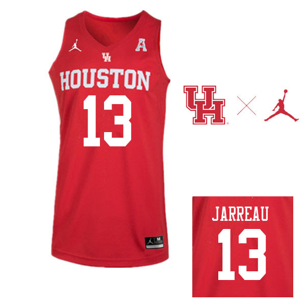Jordan Brand Men #13 DeJon Jarreau Houston Cougars College Basketball Jerseys Sale-Red