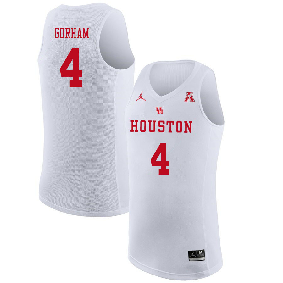 Jordan Brand Men #4 Justin Gorham Houston Cougars College Basketball Jerseys Sale-White