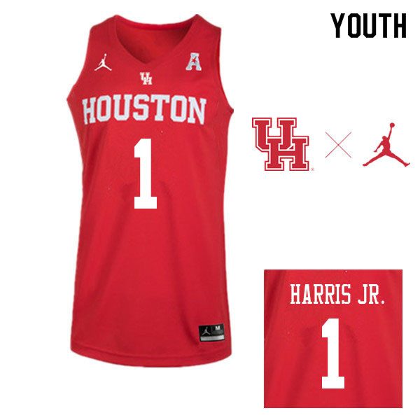 Jordan Brand Youth #1 Chris Harris Jr. Houston Cougars College Basketball Jerseys Sale-Red
