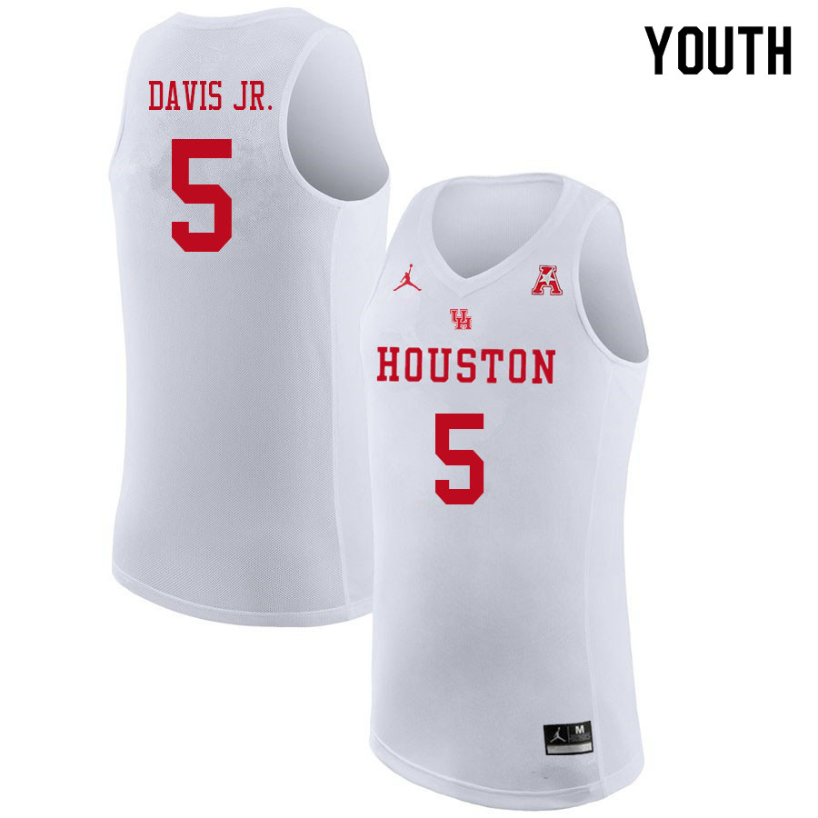 Jordan Brand Youth #5 Corey Davis Jr. Houston Cougars College Basketball Jerseys Sale-White