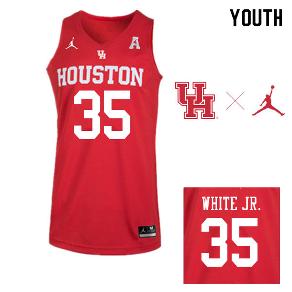 Jordan Brand Youth #35 Fabian White Jr. Houston Cougars College Basketball Jerseys Sale-Red