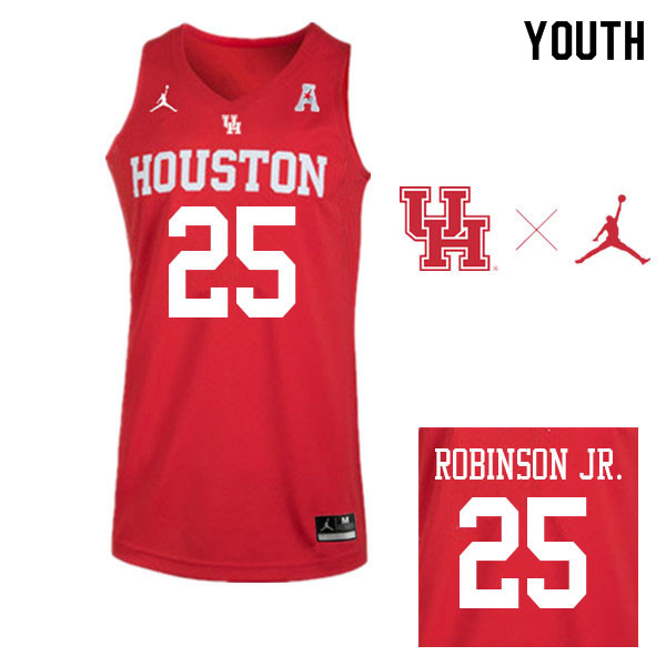 Jordan Brand Youth #25 Galen Robinson Jr. Houston Cougars College Basketball Jerseys Sale-Red